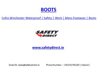 Cofra Winchester Waterproof | Safety | Work | Mens Footwear | Boots | safetydirect.ie