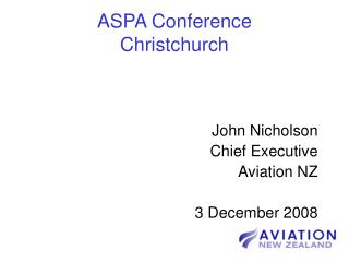 ASPA Conference Christchurch