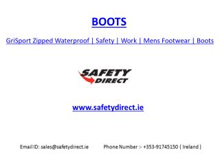 GriSport Zipped Waterproof | Safety | Work | Mens Footwear | Boots | safetydirect.ie