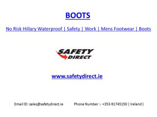 No Risk Hillary Waterproof | Safety | Work | Mens Footwear | Boots | safetydirect.ie
