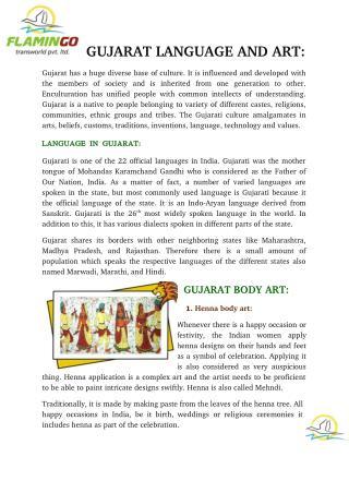 Gujarat language and art