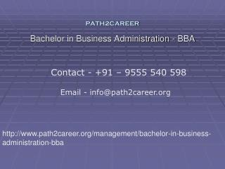 Bachelor in Business Administration - BBA @8527271018