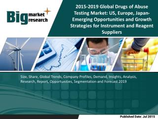 Global Drugs of Abuse Testing Market: US, Europe, Japan-Emerging Opportunities and Growth Strategiesfor Instrument and R