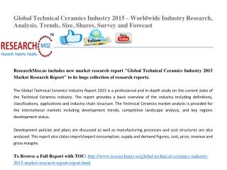 Global Technical Ceramics Industry 2015 Market Research Report