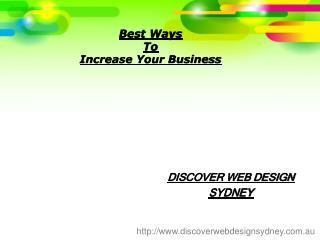 Webdesign Sydney Offers Web Development & Hosting Services