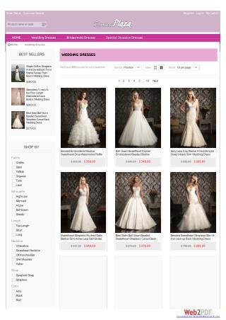 A-line wedding dresses by dressesplaza.com