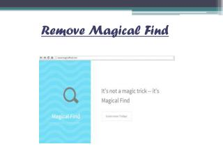 How To Uninstall Magical Find