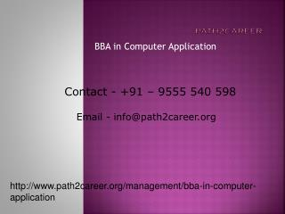 BBA in Computer Application @8527271018