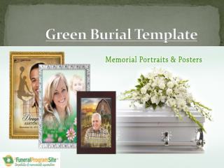 Green Burial Template By FuneralProgramSite