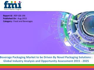 Beverage Packaging Market to Grow at a CAGR of 3.3% between 2015 and 2025s