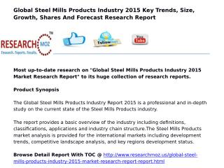Global Steel Mills Products Industry 2015 Market Research Report