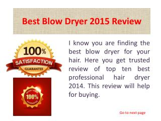 Best Blow Dryer Review