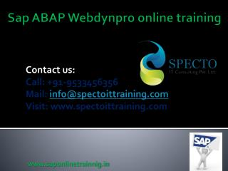 sap mdg training live classes in online