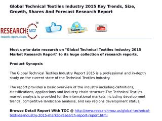 Global Technical Textiles Industry 2015 Market Research Report