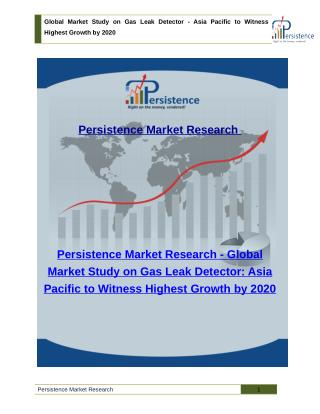 Global Market Study on Gas Leak Detector - Asia Pacific to Witness Highest Growth by 2020