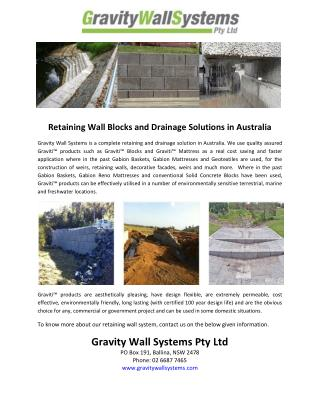 Retaining Wall Blocks and Drainage Solutions in Australia