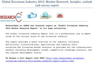 Global Zirconium Industry 2015 Market Research Report