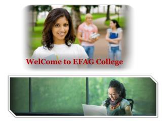 Online Education at EFAG College