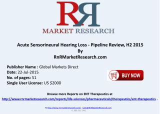 Acute Sensorineural Hearing Loss Pipeline Therapeutics Assessment Review H2 2015