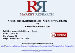 Acute Sensorineural Hearing Loss Pipeline Therapeutics Assessment Review H2 2015