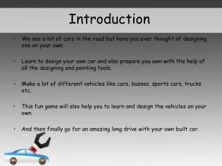 Design My Car - Kids Games