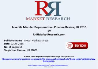 Juvenile Macular Degeneration Pipeline Therapeutics Assessment Review H2 2015