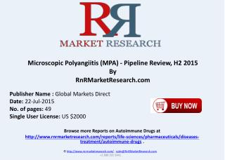 Microscopic Polyangiitis Pipeline Therapeutics Assessment Review H2 2015