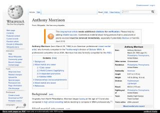 Anthony Morrison- An American professional mixed martial artist