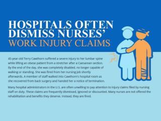 Hospitals Often Dismiss Nurses' Work Injury Claims