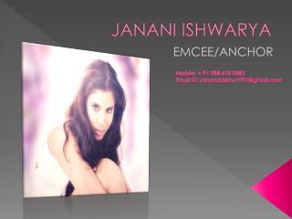 EMCEE Janani aishwarya