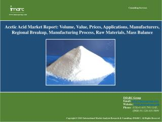 Acetic Acid Market is Exhibit the Continuous Growth During Year 2015-2020