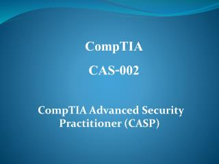 Pass4sure CAS-002 Online study