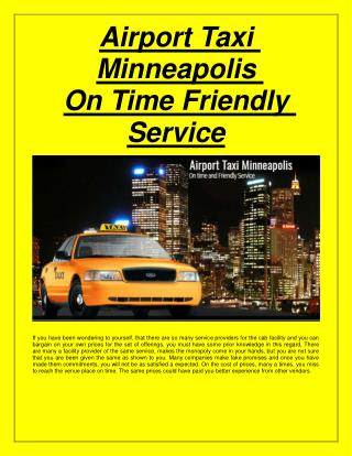 Suburban taxi maple Grove