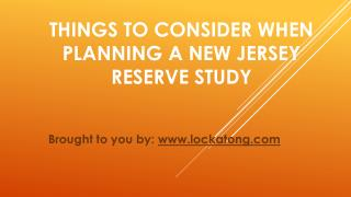 Things To Consider When Planning A New Jersey Reserve Study