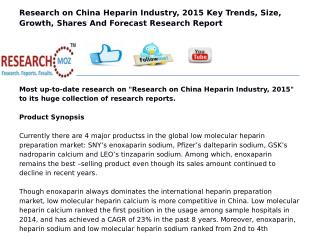 Research on China Heparin Industry, 2015