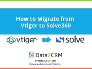 Vtiger to Solve360: a Guide to Automated Transfer