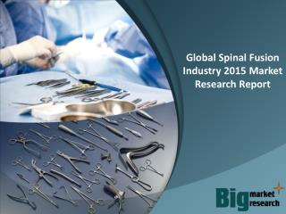 Global Spinal Fusion Industry 2015 - Market Size, Trends, Growth & Forecast
