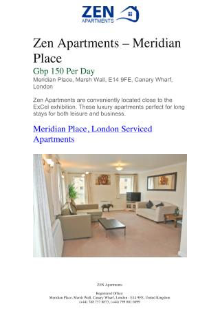 Zen Apartments – Meridian Place | Zen Apartments London | Zen Apartments London