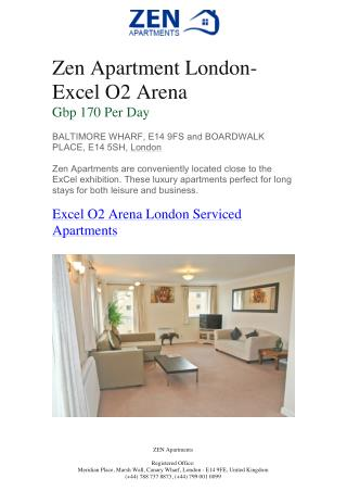 Zen Apartments – Excel O2 Arena | Zen Apartments London | Zen Apartments London