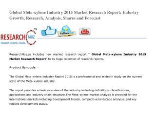 Global Meta-xylene Industry 2015 Market Research Report