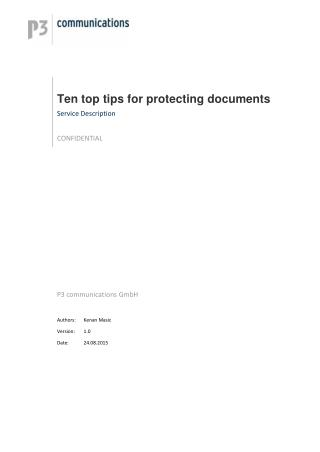 Ten top tips for protecting documents