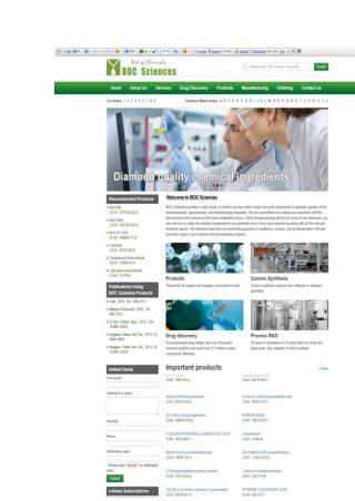 BOC Sciences Updated its Website