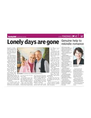 Lonely Days Are Gone: Vital Partners – Introduction Agency