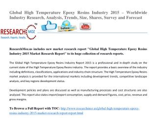 Global High Temperature Epoxy Resins Industry 2015 Market Research Report