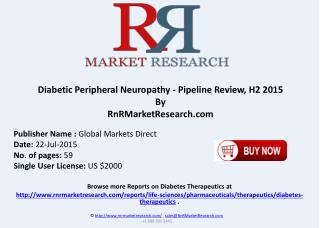 Diabetic Peripheral Neuropathy Pipeline Therapeutics Assessment Review H2 2015