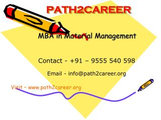 MBA in Materials Management @8527271018