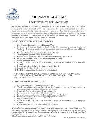 Requirements-for-Admission | Palmas Academy
