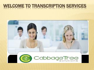 Cabbage Tree Solutions & Transcription Service
