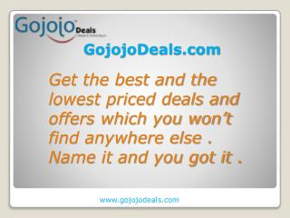 Gojojodeals Dream It Find It Buy It
