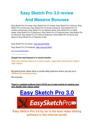 Easy Sketch Pro 3.0 review - Easy Sketch Pro 3.0  sneak peek features